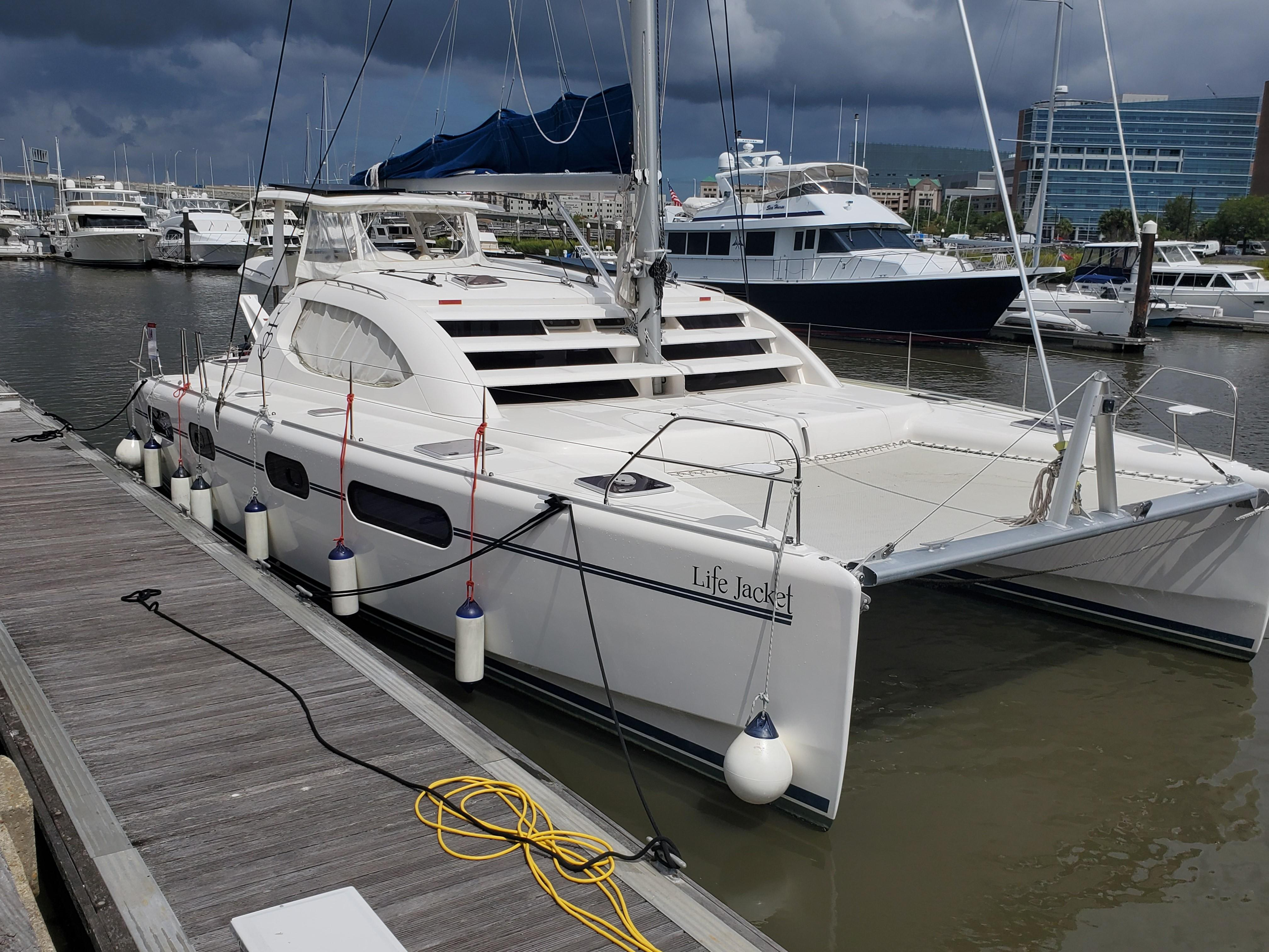 Leopard 46 Sailing Catamaran Lifejacket for sale | Leopard ...